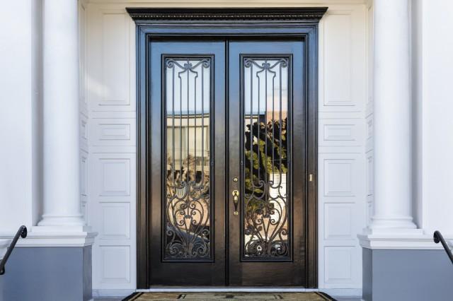 Wrought Iron Glass Door Inserts