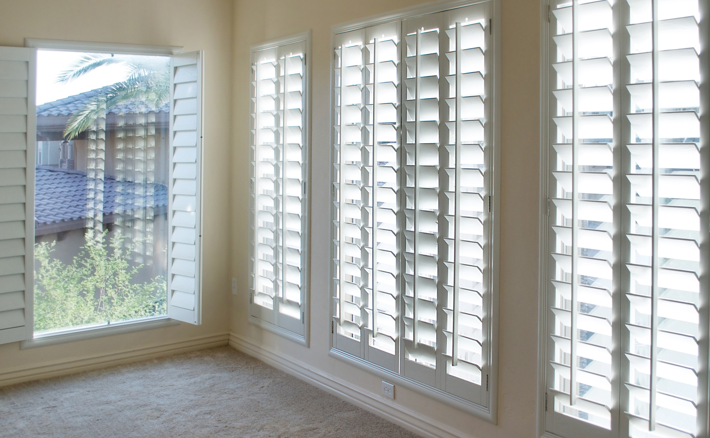 room sliding living blinds california how door shutters in strangetowne finish glass to